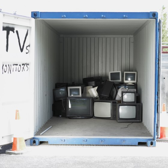 You can make money from discarded electronics like TVs.