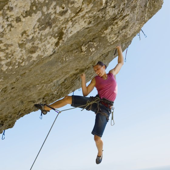 This type of climbing involves overall body tension, not only upper-body strength.