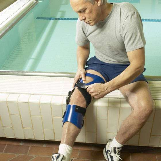 Braces can protect your knees during rehabilitation.