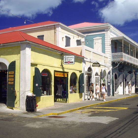 Many St. Thomas residents work in the tourist industry.