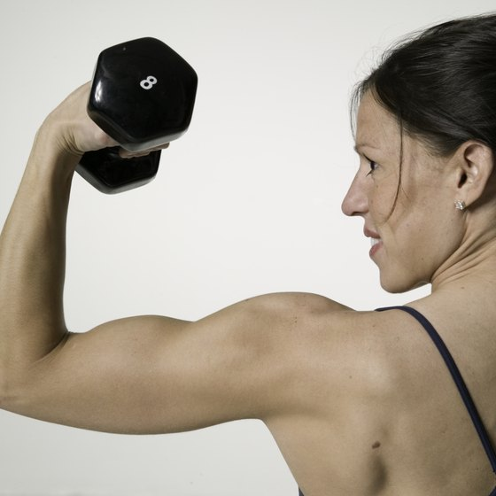 Free weights are ideal for toning your muscles.