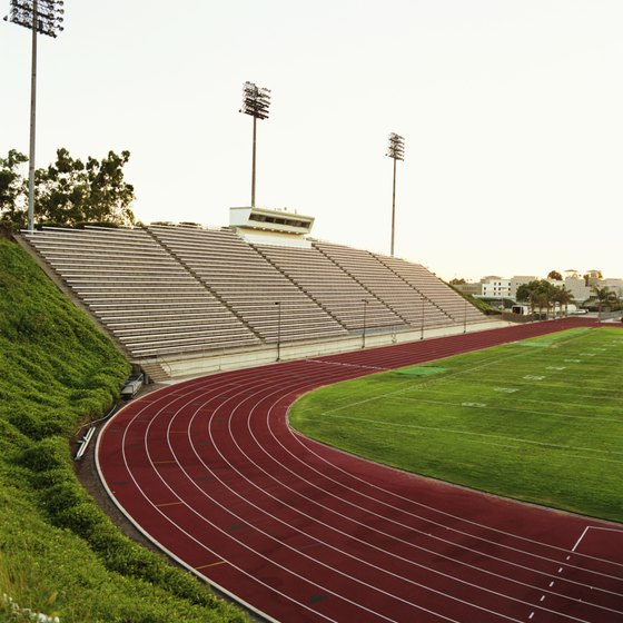 A football field and track provide numerous workout options.