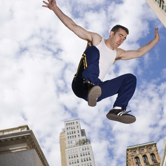 The physics of parkour allow freerunners to apparently cheat death.