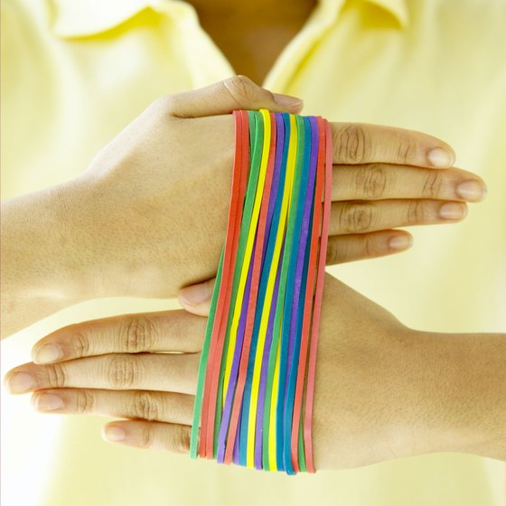 Rubber bands are a useful tool for developing hand strength and flexibility.