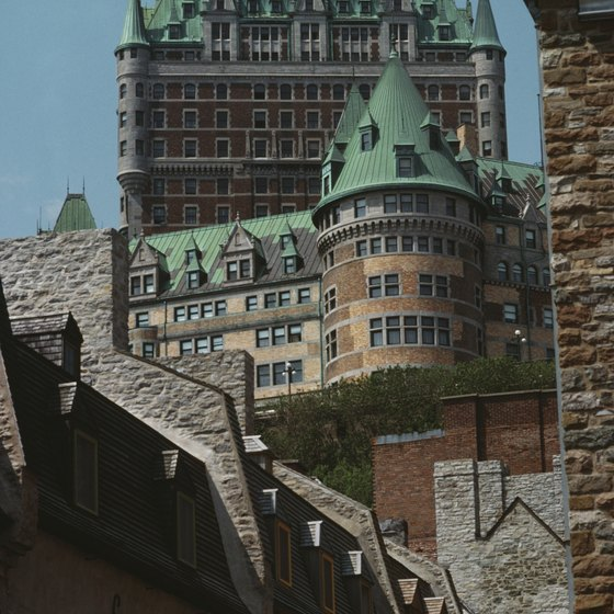 You are likely to see the famous Chateau Frontenac once you arrive in Quebec City.