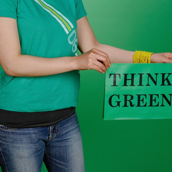 Businesses often use environmental slogans as marketing tools.