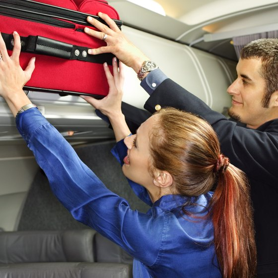 Carry-ons must fit in overhead compartments.