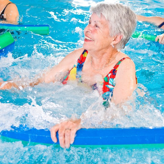 Water aerobics provides resistance, cardio and flexibility benefits.