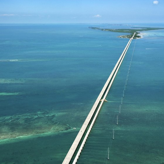 The Overseas Highway runs through Islamorada in the Florida Keys.