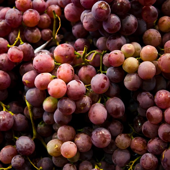 Juice grapes to make a beverage rich in polyphenols, as well as vitamins K and C.