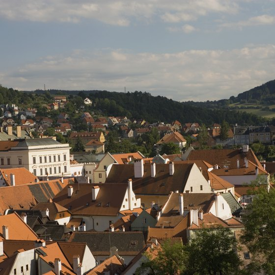 Rolling hills surround the Czech capital of Prague.
