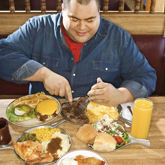Compulsive overeaters often consume thousands of calories in one sitting.