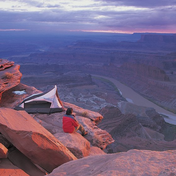 The view from the canyon rim at Dead Horse Point mesmerizes visitors.