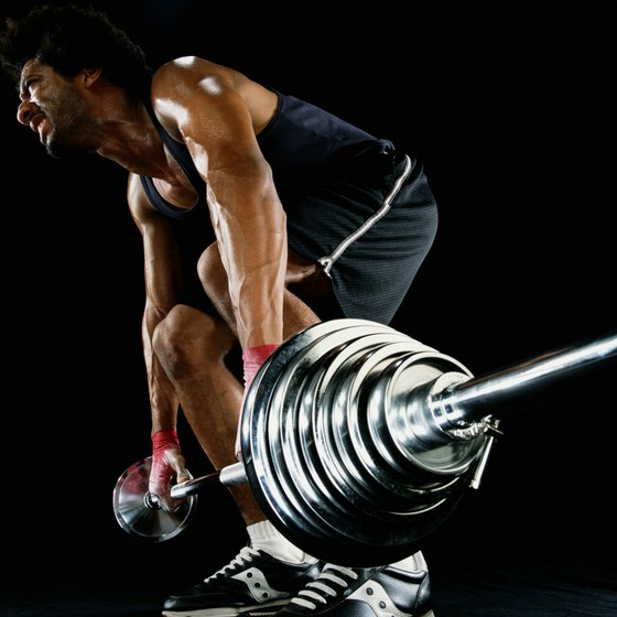 Keep your back straight during the single-leg Russian deadlift.