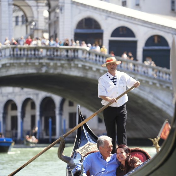 Romantic Venice is built on water.