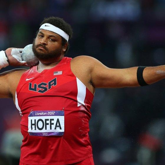 Reese Hoffa favors plyo box hip raises when shot put training.