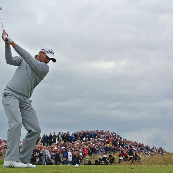 Sergio Garcia keeps a very straight left arm during his backswing.