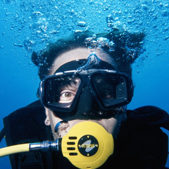 Learn to scuba dive at Caribbean resorts such as Buccaneers Creek in Martinique.