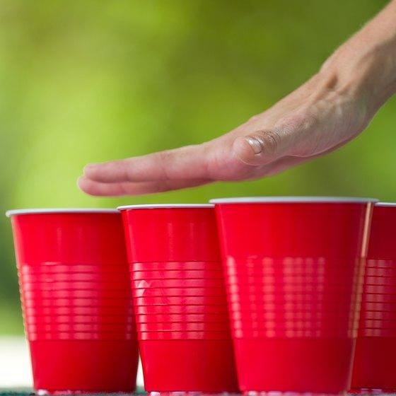 Plastic cups.