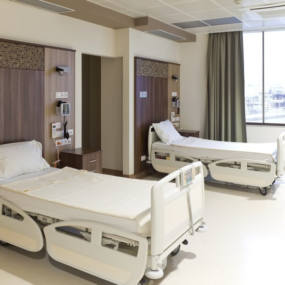 Hospital use cleaning products with disinfecting solutions.