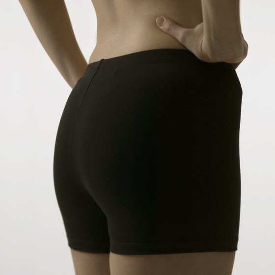 A lifted, shapely butt comes from muscle-toning and fat-reducing exercises.