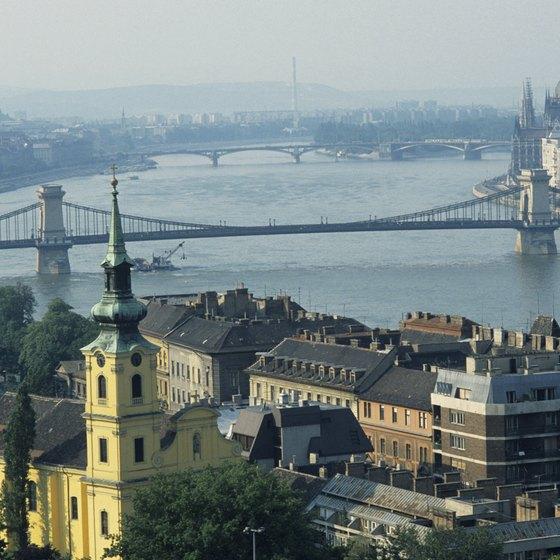 Budapest ovelooks the Danube river.