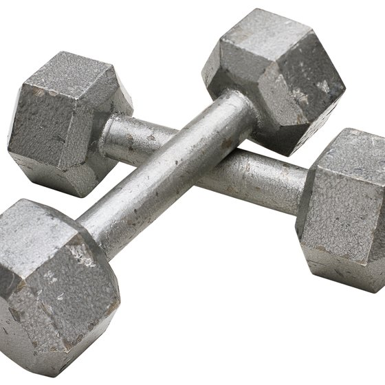 An inexpensive set of dumbbells is all you need to work your upper-body muscles.