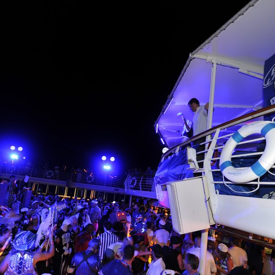 Royal Caribbean visitors to CocoCay can party well into the night.