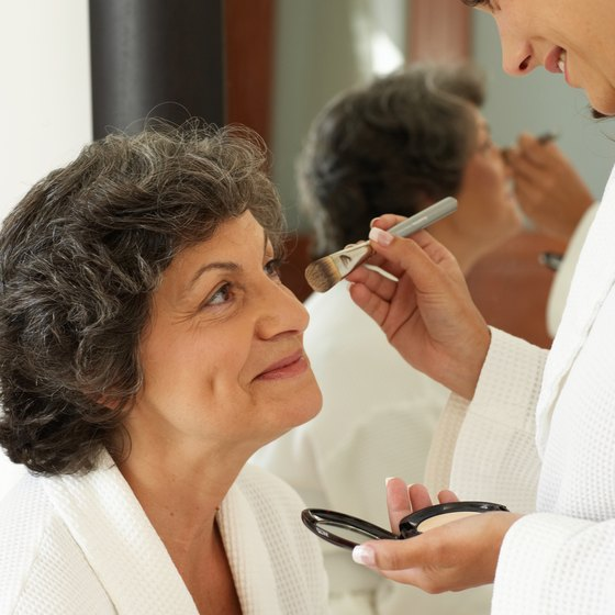 Hire team members who are makeup artists to service clients at a retail location.