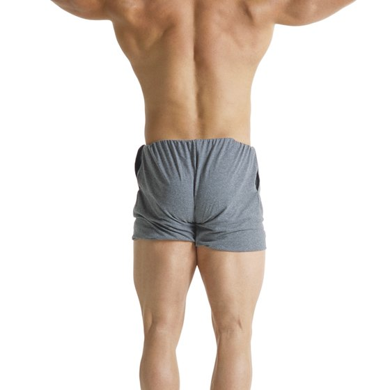 The latissimus dorsi muscles of the back are antagonists of the shoulder abductors.