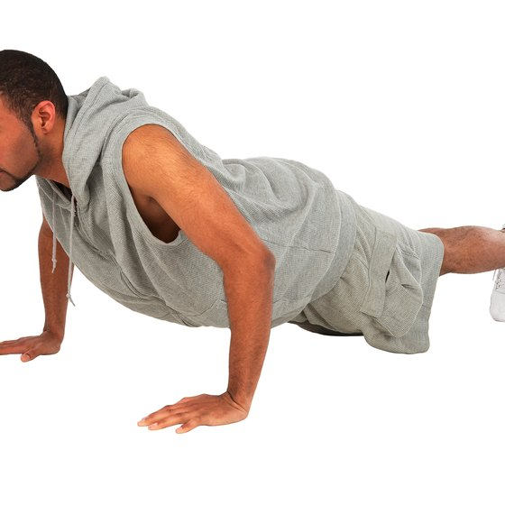Target your lower chest with pushups.