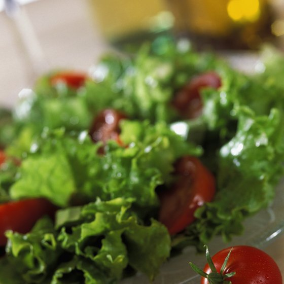 Salads are a nutritious way to fit more lettuce and tomatoes into your diet.