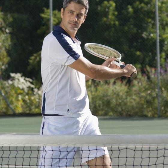 Playing tennis can keep you agile and fit.