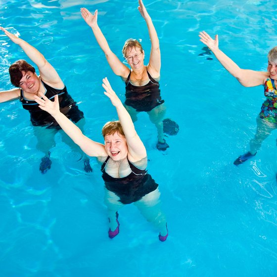 Exercising in the pool works many of your muscles, including your quadriceps.