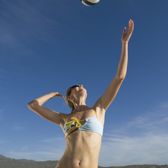 Practice makes perfect when it comes to your volleyball serve.