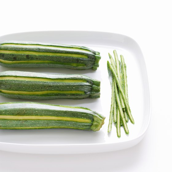 Strands of zucchini can stand in for pasta.