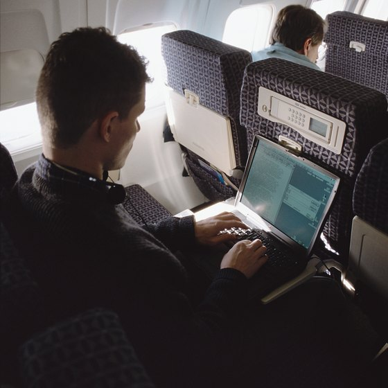 Follow the airline's instructions for connecting to the Internet while in flight.