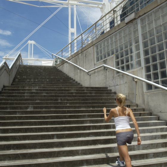 Taking the stairs can be hard work for your heart and lungs.