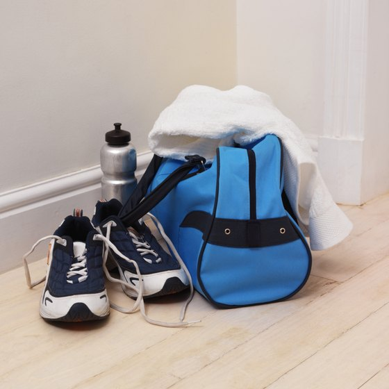 Pack your workout clothing and accessories in your gym bag.