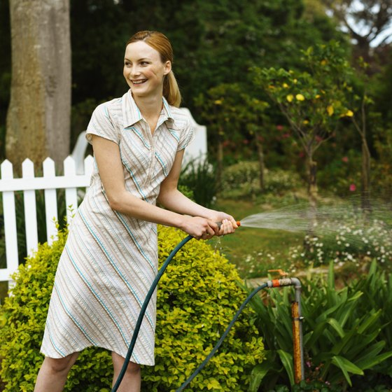 Watering your garden burns a minimal number of calories.