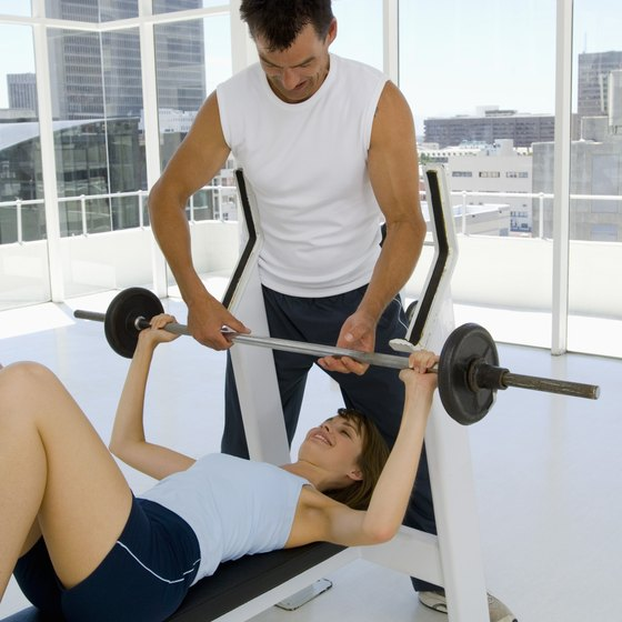 A good spotter is crucial for any pressing exercise.