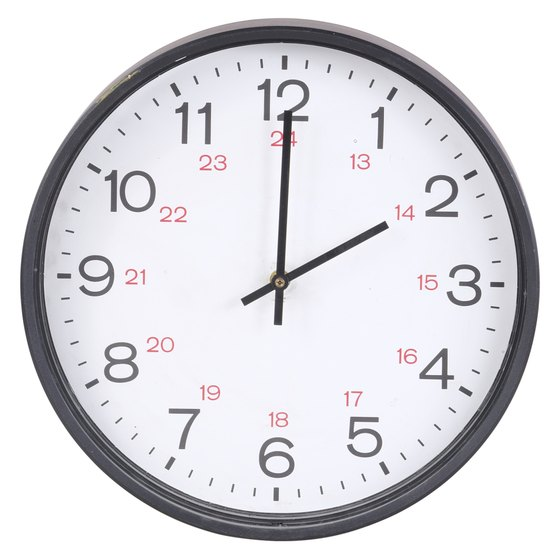 You can use a 24-hour clock to calculate payroll easily.