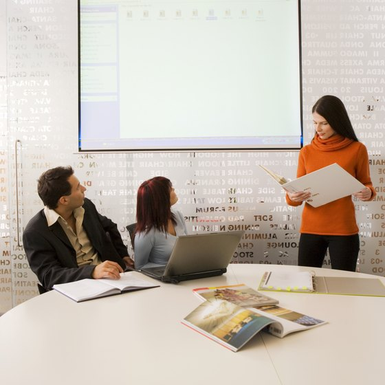 Certain projectors enable you to control presentations from your Android tablet.