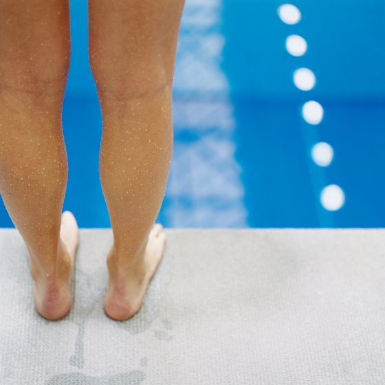 Stretches can benefit a swimmer's calf muscles.