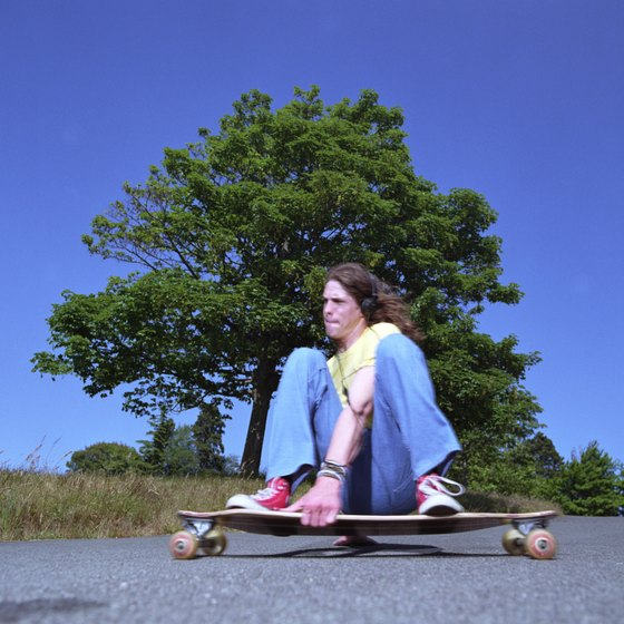 Longboard skateboards are for cruising and long downhill rides.