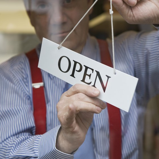 Many businesses start as sole proprietorships.