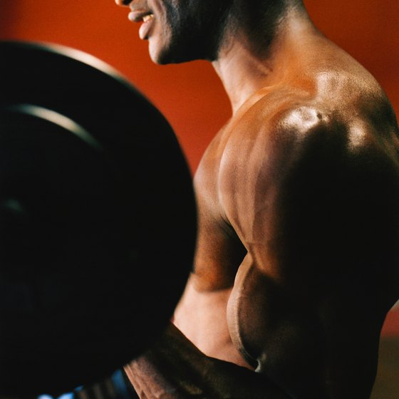 Get more muscular by lifting weights and increasing your food intake.