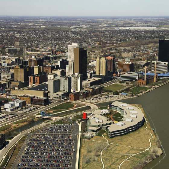 Toledo sits at the mouth of the Maumee River.