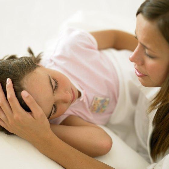 Parent with sick child.