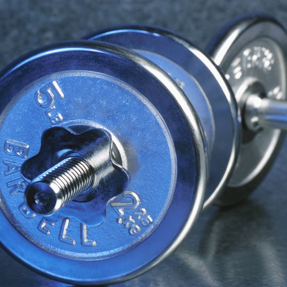 You can use dumbbells to perform shoulder shrugs.